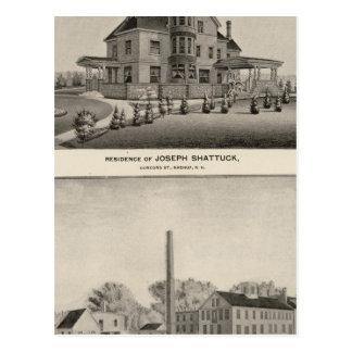 Shattuck Wohnsitz, McLane Mühlen Postkarte