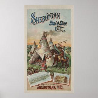 Sheboygan Stiefel u. Schuh Co. [1891] Poster
