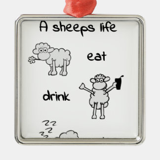 sheeps life tuesday silbernes ornament