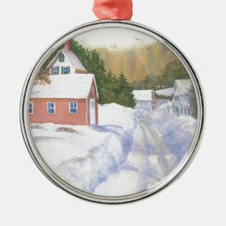 Sheepscott Maine Straße Silbernes Ornament