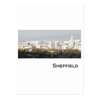 Sheffield-Landschaftsbild Postkarte