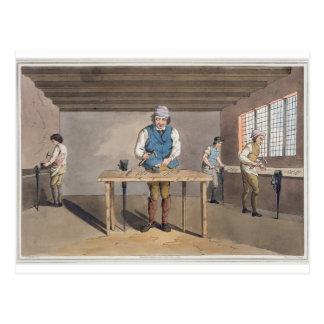 """Sheffield-Messerschmied, """"vom Kostüm von Postkarte"""