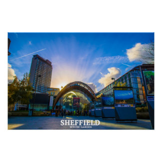 Sheffield-Wintergarten Poster