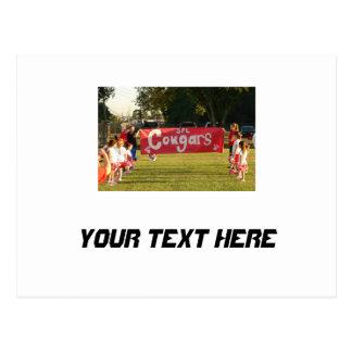 Sheldon Fußball-Liga-Pumas unter 8 Postkarte