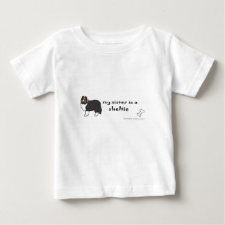 sheltie baby t-shirt