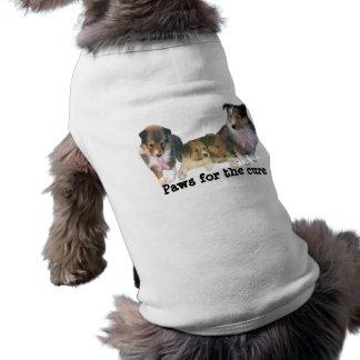 Sheltie Brustkrebs-Haustier-Kleidung Top