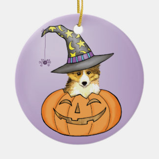 Sheltie Halloween Keramik Ornament