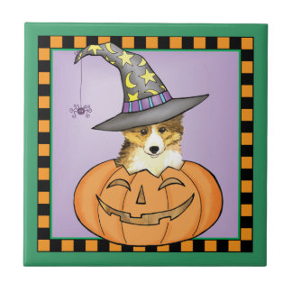 Sheltie Halloween Keramikfliese