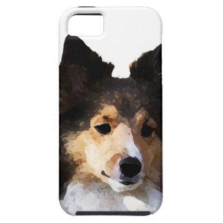 Sheltie Hundemalereiskizze iPhone 5 Hülle
