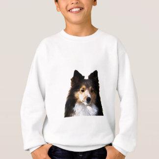Sheltie Hundemalereiskizze Sweatshirt