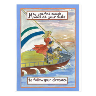 Sheltie Kunst-Wind an Ihren Segeln Postkarte