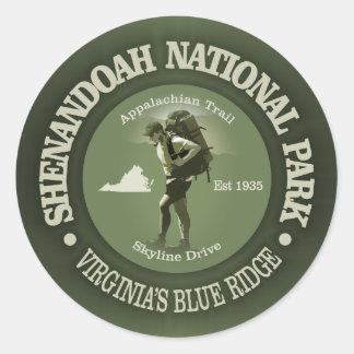 Shenandoah NP Runder Aufkleber