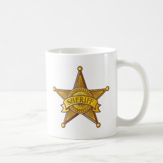 Sheriff-Abzeichen Kaffeetasse