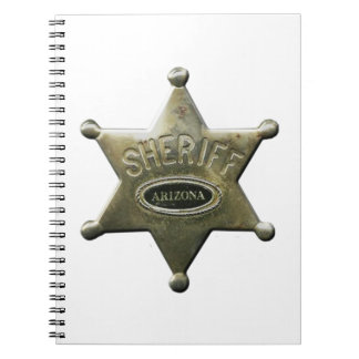 Sheriff Arizona Spiral Notizblock