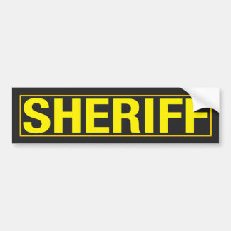 """SHERIFF "" AUTOAUFKLEBER"