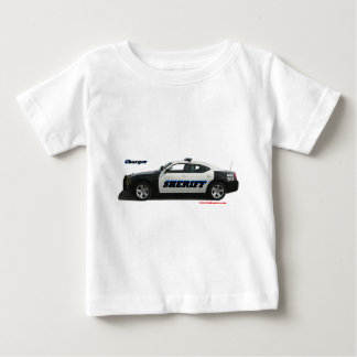 Sheriff_Charger_Black_White_Texturized. Baby T-shirt