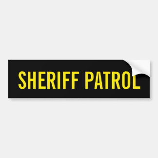 SHERIFF-PATROUILLE - goldenes gelbes Logo-Emblem Autoaufkleber