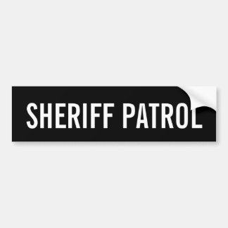 SHERIFF-PATROUILLE - weißes Logo-Emblem Autoaufkleber