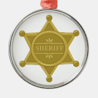 Sheriff Silbernes Ornament