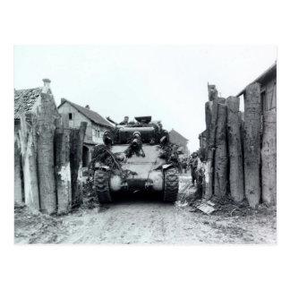 Sherman-Behälter Postkarte