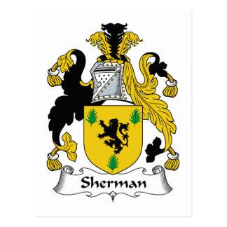 Sherman-Familienwappen Postkarte