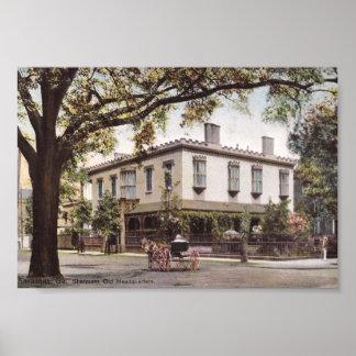 Shermans Headquarters, Savanne, Georgia Vintag Poster