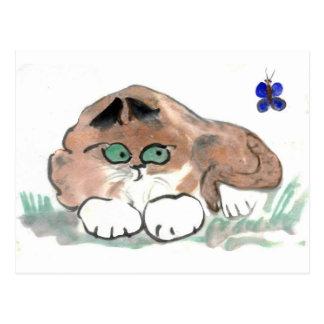 Sherrie passt einen Schmetterling auf Postkarte