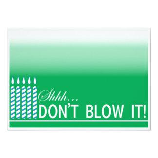 Shh Überraschungs-Geburtstags-Party Einladung