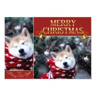 Shiba Hund - Dogehund - frohe Weihnachten Karte