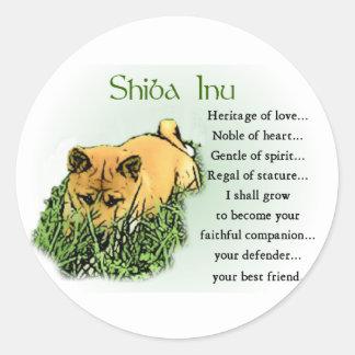 Shiba Inu Geschenke Runder Aufkleber