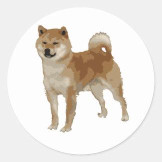 Shiba Inu Hund Runder Aufkleber