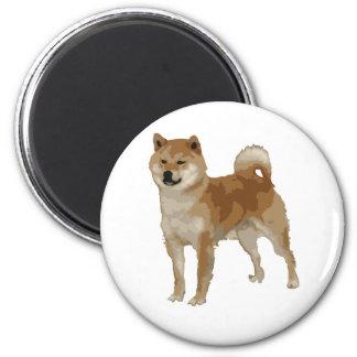 Shiba Inu Hund Runder Magnet 5,1 Cm