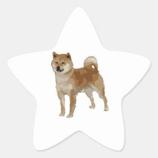 Shiba Inu Hund Stern-Aufkleber