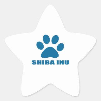 SHIBA INU HUNDEentwürfe Stern-Aufkleber