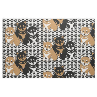 Shiba Inu Hundezucht-Gewebe Stoff