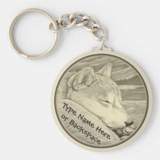 Shiba Inu Keychain personalisiertes Shiba Inu Schlüsselanhänger