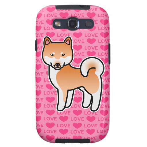 Shiba Inu rote Liebe-Herzen Samsung Galaxy S3 Schutzhüllen