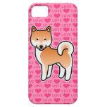 Shiba Inu rote Liebe-Herzen Hülle Fürs iPhone 5