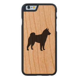 Shiba Inu Silhouette Carved® iPhone 6 Hülle Kirsche