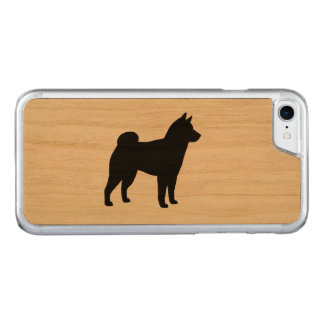 Shiba Inu Silhouette Carved iPhone 8/7 Hülle