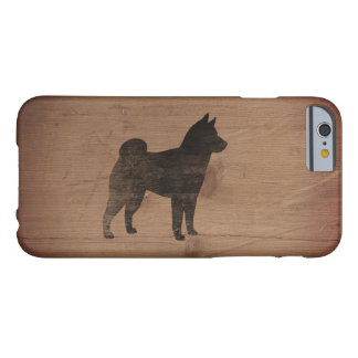 Shiba Inu Silhouette rustikal Barely There iPhone 6 Hülle