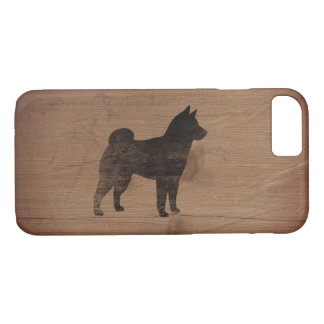 Shiba Inu Silhouette rustikal iPhone 8/7 Hülle