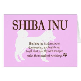 Shiba Inu willkommene neue Hundekarte Karte