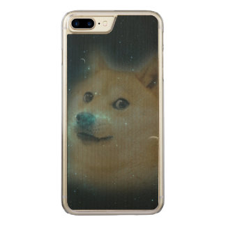 shibe Doge im Raum Carved iPhone 8 Plus/7 Plus Hülle