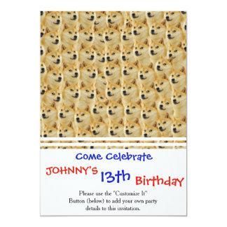 shibe Dogespaß und lustiges meme entzückend 12,7 X 17,8 Cm Einladungskarte
