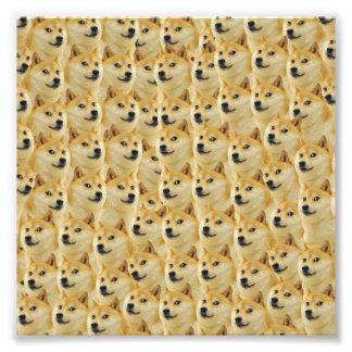 shibe Dogespaß und lustiges meme entzückend Foto Druck