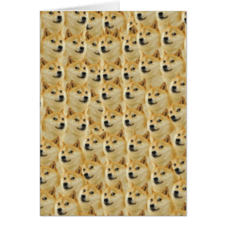 shibe Dogespaß und lustiges meme entzückend Grußkarte