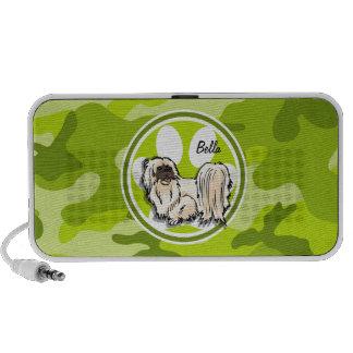 Shih Tzu hellgrüne Camouflage Tarnung Notebook Lautsprecher