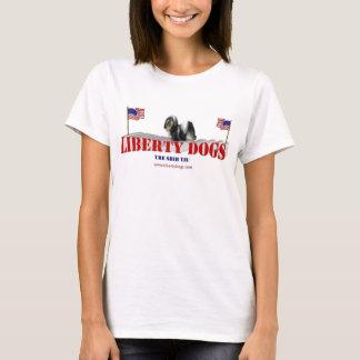 Shih Tzu mit Flaggen T-Shirt