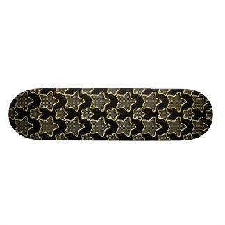 Shimmery Punkte in den goldenen Sternen auf 18,4 Cm Mini Skateboard Deck